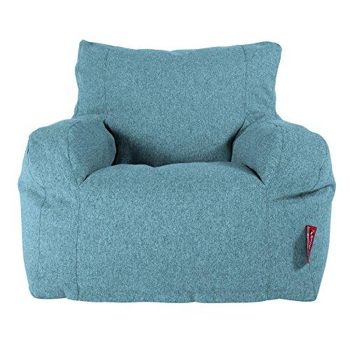 LOUNGE PUG®, Sitzsack Ohrensessel, Interalli Wolle Aqua