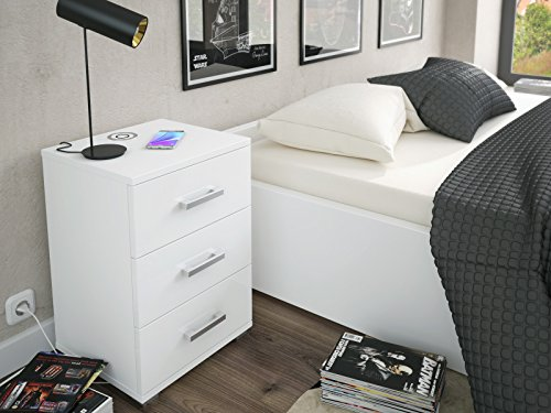 labi m bel n3 3 schubladen mit induktionsladeger t schrank. Black Bedroom Furniture Sets. Home Design Ideas