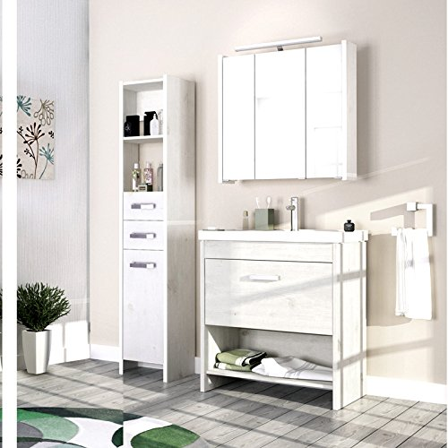 Landhaus-Badezimmer-Mbel-Set-massiv-wei-Badmbel-Schrank-Waschtisch-Waschplatz-0-0