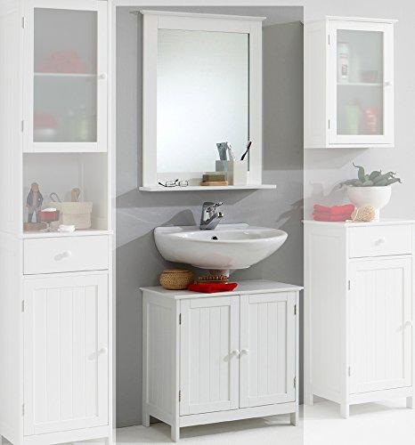 Landhaus-Badezimmer-Waschplatz-Badmbel-wei-Badezimmerschrank-Gste-WC-Bad-0