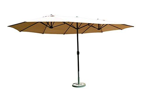 Leco 20300103 Oval-Schirm, 2.70 x 4.60 m, natur