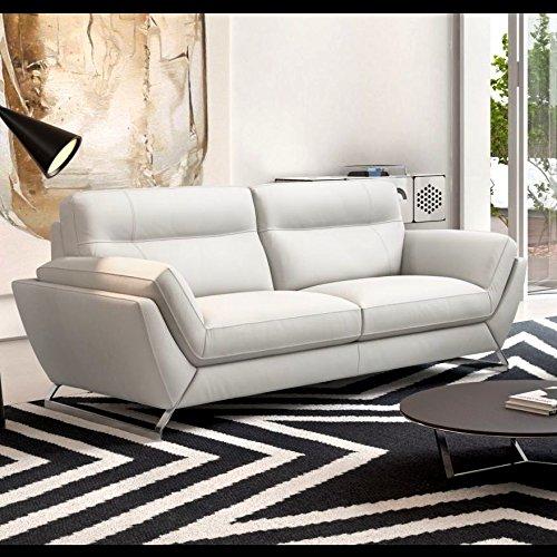 Leder Sofa Couch Polstergarnitur Couchgarnitur 2-Sitzer Elegant modern
