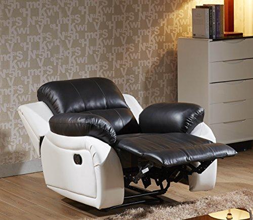Ledersessel Relaxsessel Kinosessel Fernsehsessel 5129-1-SW sofort