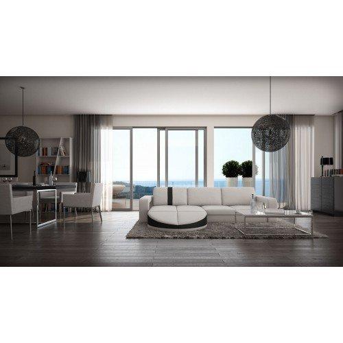 ledersofa florenz l form m bel24. Black Bedroom Furniture Sets. Home Design Ideas