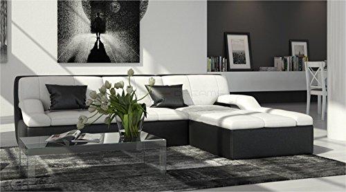 ledersofa guevara l form m bel24. Black Bedroom Furniture Sets. Home Design Ideas