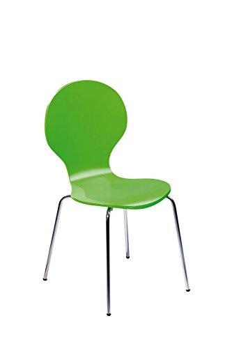 Links 30200630 Küchenstuhl Esszimmerstuhl Stuhl Set 4-teilig Esszimmerstühle 4 Stühle grün NEU