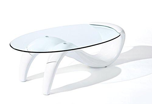 49 Wei Hochglanz Glastisch Wohnzimmertisch Wohnzimmer Tisch Modern NEU