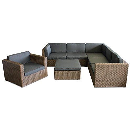 Lounge-Gartengarnitur-Gartenmbel-Minnesota-Sitzgruppe-Sitzgarnitur-Sitzlandschaft-Polyrattan-Rattan-inklusive-Polster-Couchgarnitur-Rattanmbel-Loungembel-Gartenset-Cappuccinofarben-0
