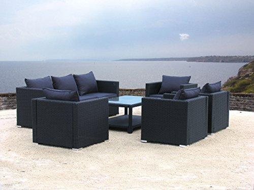 Lounge Set Pepe Schwarz 21tlg