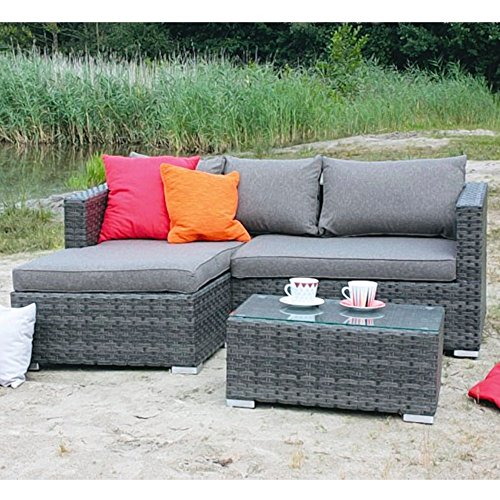 Loungegarnitur-Gartenmbel-Set-Aluminiumgestell-Polyrattangeflecht-Lounge-Gruppe-0-0
