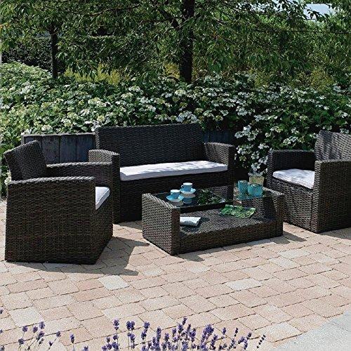 Loungegarnitur-Gartenmbel-Set-Stahlrohrgestell-Polyrattangeflecht-Lounge-Gruppe-0