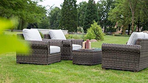 Loungeset-Loungembel-Gartenlounge-Gartenloungembel-Rattanlounge-Gartensitzgruppe-Gartengarnitur-Rattan-Aluminium-Auflagen-braun-0