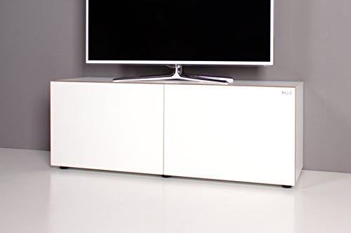 Lowboard / TV-Bank NOOMO weiß / weiß Hochglanz
