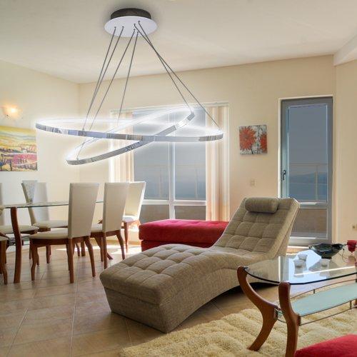 Lu-Mi® LED Pendelleuchte Höhenverstellbar Küchen Deckenleuchte Wohnzimmer  Designleuchte Deckenlampe...