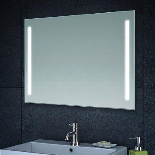 Lux-aqua Design Wand Spiegel Badezimmerspiegel LED Beleuchtung mit 420 Lumen MT60-80
