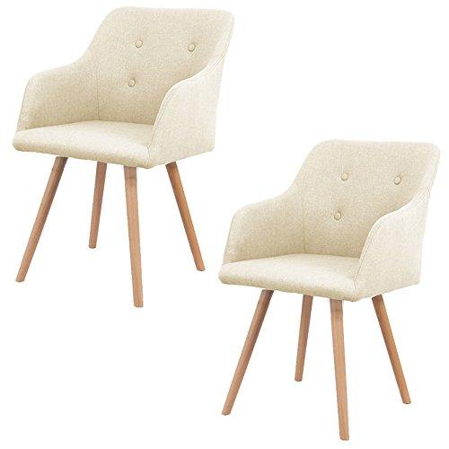 MCTECH-2x-Stuhl-Esszimmersthle-Esszimmerstuhl-Stuhlgruppe-Konferenzstuhl-Kchenstuhl-Armlehne-Bro-mit-Massivholz-Eiche-Bein-0