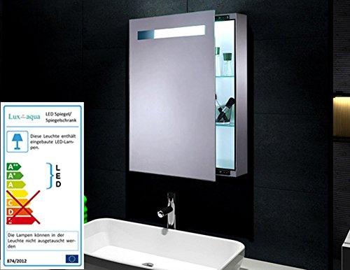 MINI Spiegelschrank mit Metal Korpus LED Beleuchtung 70x45cm