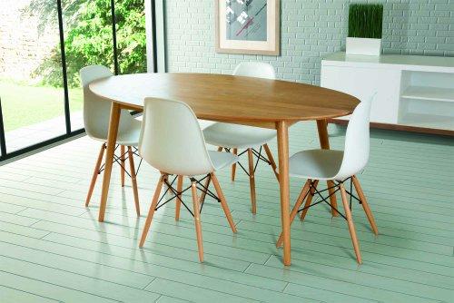 My furniture tretton esstisch retro design oval for Esstisch retro design