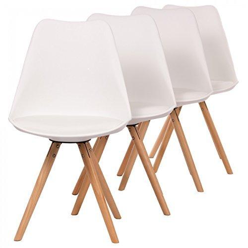 MY SIT Designerstuhl Mool 4er Set Weiß