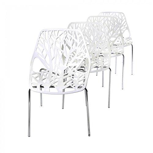 Makika-Retro-Stuhl-Design-Stuhl-Esszimmersthle-Brostuhl-Wohnzimmersthle-Lounge-Kchenstuhl-Sitzgruppe-4er-Set-aus-Kunststoff-mit-Rckenlehne-CALUNA-in-Wei-0