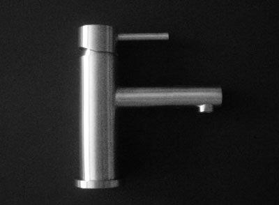 Massiv Edelstahl Waschtisch Bad Armatur spiegel poliert B24