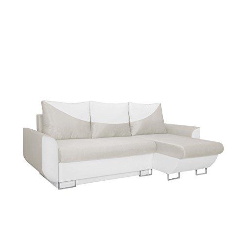 Mirjan24  Ecksofa Sabello! Couch Sofa! Eckcouch mit Schlaffunktion und Bettkasten! Ottomane Universal,Farbauswahl, L-Form Couch Schlafsofa Bettsofa