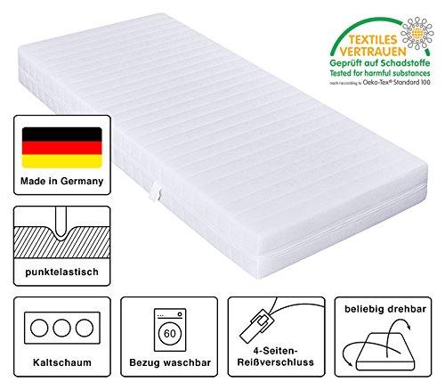 mister sandman kaltschaummatratze h2 h3 ko tex bezug waschbar 80 x 190 cm h2 h3 7 zonen. Black Bedroom Furniture Sets. Home Design Ideas