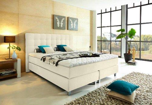 """Modell """"Rockstar"""" von WELCON: Luxus Boxspringbett 180x200 Härtegrad H3 in beige inkl. Topper - Premiumklasse für 5 Sterne Hotels - günstig direkt vom Importeur"""