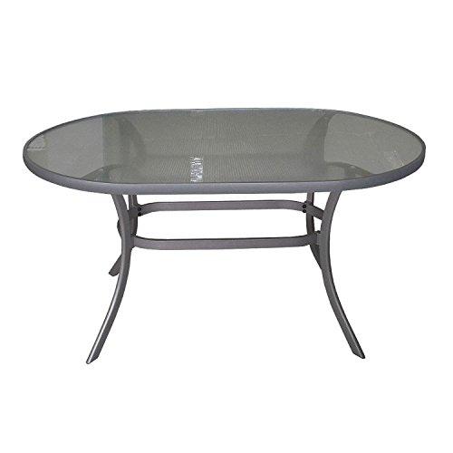 Moderner-Alu-Gartentisch-140x90cm-Glastisch-mit-geriffelter-Tischglasplatte-oval-Terrassentisch-Balkontisch-0