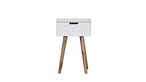 nachttisch retro beistellschrank schublade wei g nstig. Black Bedroom Furniture Sets. Home Design Ideas