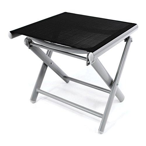 Nexos Sitzhocker Aluminium, schwarz, 43 x 38 x 40 cm, ZGC34451