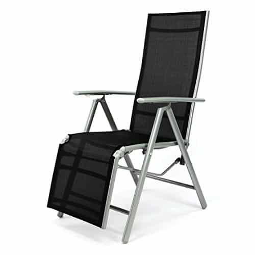 Nexos-ZGC34464-Stuhl-Liegestuhl-Klappstuhl-mit-Fusttze-fr-Garten-Terrasse-aus-Aluminium-Textilene-schwarz-silber-0