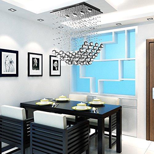 OOFAY LIGHT® LED moderner 4 Stücke-Kristallleuchter für Esszimmer, einfacher LED-Kristallleuchter stilvolle Hängelampe für Esszimmer