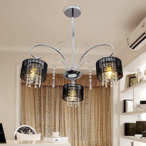 OOFAY LIGHT® einfache und graziöse 3 Stücke-Kristall-Hängelampe stilvolle Kristall-Hängelampe für Esszimmer moderne Kristall-Hängelampe für Wohnzimmer