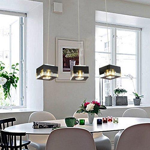 OOFAY LIGHT® einfache und graziöse G4*3 Stücke- Kristall-Hängelampe für Esszimmer stilvolle Kristall-Hängelampe