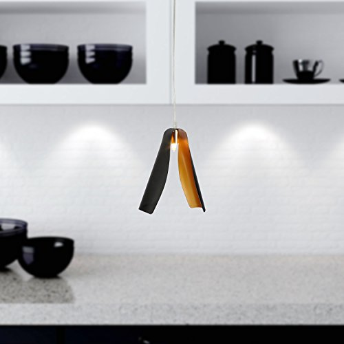 OOFAY LIGHT® einfache und graziöse G9*1 Stück- Hängelampe moderne und kreative 40W-Hängelampe für Esszimmer (schwarz)
