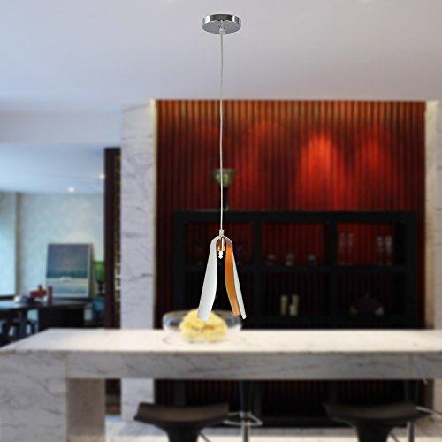 OOFAY LIGHT® einfache und graziöse G9*1 Stück- Hängelampe moderne und kreative 40W-Hängelampe für Esszimmer (weiss)