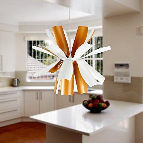 OOFAY LIGHT® einfache und graziöse G9*12 Stücke-Hängelampe moderne und kreative Hängelampe für Esszimmer stivolle Hängelampe (weiss)