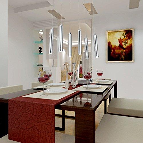OOFAY LIGHT® einfache und graziöse LED-Leuchte 6 Stücke- Hängelampe stilvolle LED-Hängelampe für Esszimmer