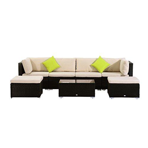 Outsunny-Poly-Rattan-Gartenmbel-21tlg-Rattan-Garten-Set-Sitzgruppe-Loungeset-Loungembel-Gartengarnitur-Sofa-inkl-Sitzkissen-0
