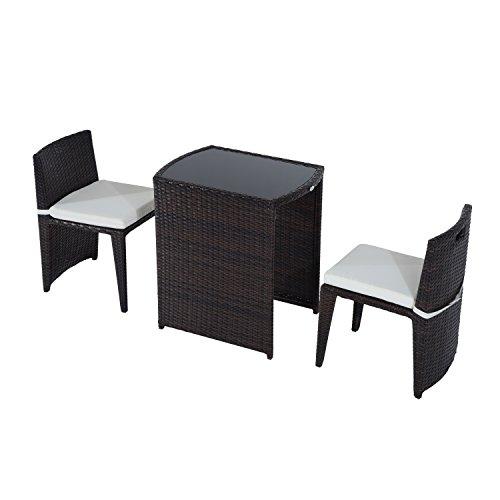 Outsunny® Polyrattan Gartenmöbel Rattan Essgruppe Gartenset Lounge Sitzgruppe Sofa Loungemöbel Garnitur inkl. Kissen Alu