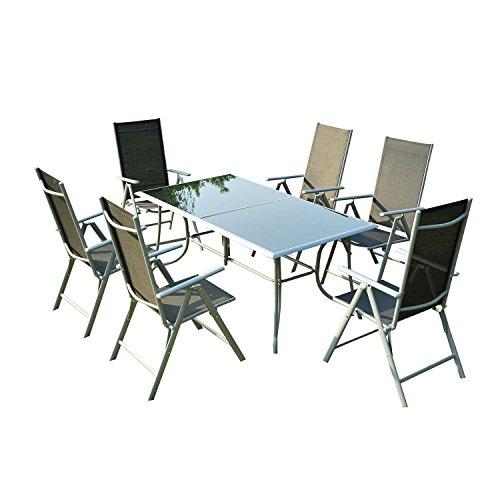 Outsunny® Sitzgarnitur Sitzgruppe Gartengarnitur Gartenset Gartenmöbel Garten Alu
