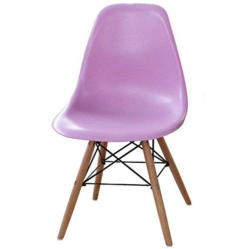 P & N Homewares® Moda Stuhl Kunststoff Retro Esstisch Stühlen Moderne Möbel rose