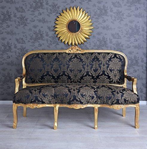 PALAZZO INT Sofa Barock Sitzbank Gold Sofabank Polsterbank Polstersofa Antik Couch Palazzo Exklusiv