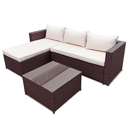 POLY-RATTAN-Corner-Lounge-Gartenset-BRAUN-Sofa-Garnitur-Polyrattan-Gartenmbel-Neu-0