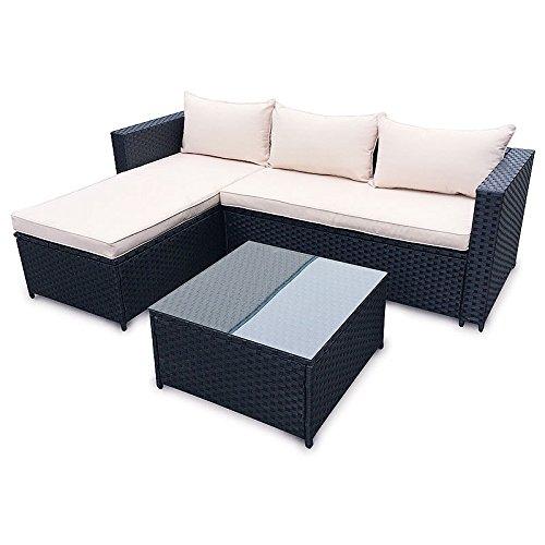 POLY-RATTAN-Corner-Lounge-Gartenset-Schwarz-Sofa-Garnitur-Polyrattan-Gartenmbel-Neu-0