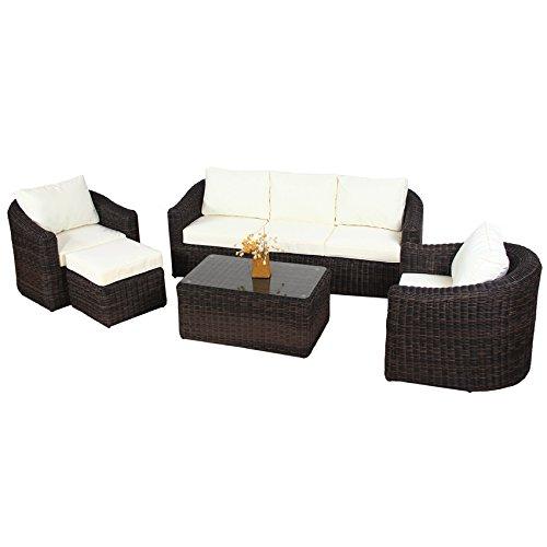 POLY-RATTAN-Lounge-Gartenset-BRAUN-Sofa-Garnitur-Polyrattan-Gartenmbel-Neu-0-0