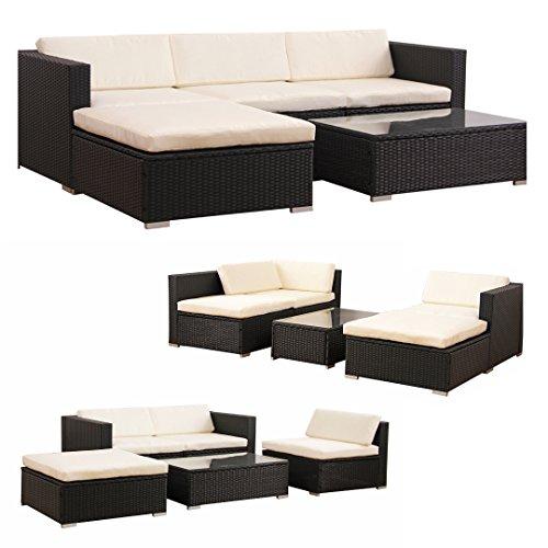 POLY-RATTAN-Lounge-Gartenset-SCHWARZ-Sofa-Garnitur-Polyrattan-Gartenmbel-Neu-0