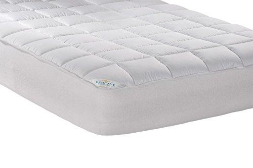 PROCAVE Micro-Comfort Matratzen-Bett-Schoner weiß 180x200 cm mit Spannumrandung | Höhe bis 30cm | Auch für Boxspring-Betten und Wasser-Betten geeignet | Microfaser | 100% Polyester | Matratzen-Auflage