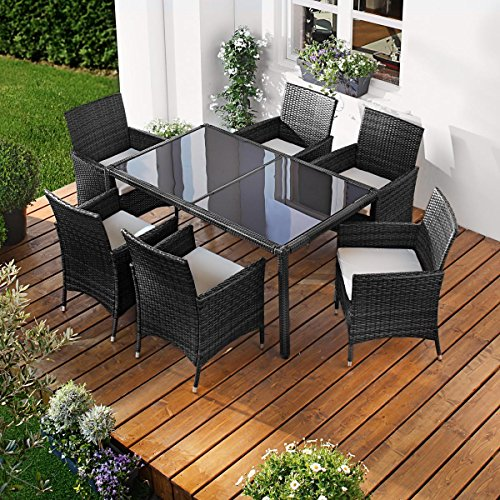 parent polyrattan gartenm belset elegance 7 9tlg schwarz poly rattan sitzgarnitur gartenm bel. Black Bedroom Furniture Sets. Home Design Ideas